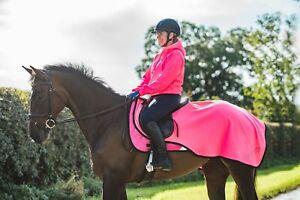 Pink Hi Viz Vis Fleece Exercise Sheet Reflective Safety High Visibility New