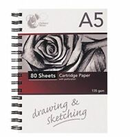 Sketch Book Drawing Pad White Cartridge Paper A4 A5 Artist Draw Art paper Spiral