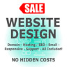 1 Page Professional Web Design + Domain & Hosting - LIMITED TIME SALE - UK