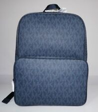 Michael Kors Men's Jet Set Signature Logo Baltic Blue Backpack