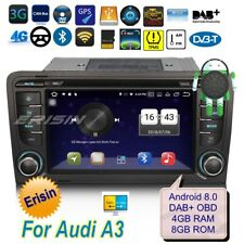 Autoradio Audi A3 2003-2011 Android 8.0  S3 RS3 DAB+ DTV Bluetooth TPMS 3G 7327I