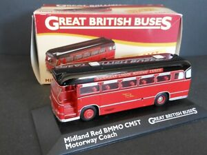 Atlas 1/76 Scale 112 Midland Red BMMO CM5T Motorway coach Diecast Model with box