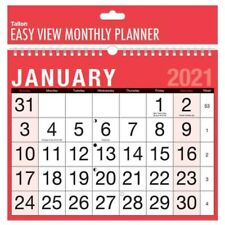 2021 Calendar, Wall Calendars, Easy view Monthly Planner, One Month to View.