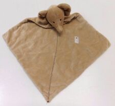 Carter's Brown Tan Elephant Baby Security Blanket Rattle Lovey Precious Firsts