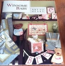 Winsome Baby Nursery Sweet Alphabet ABC Quilt Book Art To Heart Nancy Halvorsen