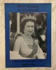 Vintage Programme State Opening Of Parliament 28Th October 1969, Hrh The Queen