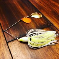 Custom Built Spinner Baits Bluegill, Trout, Shad, White Shad, Chart/White