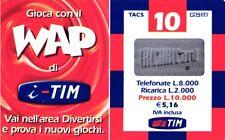 1375 SCHEDA RICARICA USATA TIM WAP WAP-P 10 LUG 2003 OCR 16 CAB 28