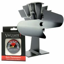 Original Valiant 2-Blade Stove Top Fan & FREE Valiant Thermometer Ideal Gift Set