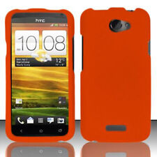 For AT&T HTC ONE X Rubberized HARD Protector Case Snap On Phone Cover Orange