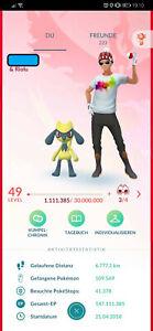 Pokémon Go Account Lvl 49 | 1168 Shiny | 772 100% | 646 Legendär | 5,4M Staub