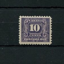J10 postage due 10c VF MNH CAT $320, scarce Canada mint