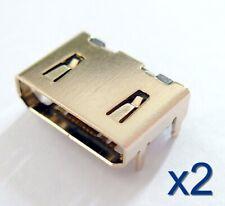 2x Connecteur Mini HDMI femelle plaqué Or 19 broches / Female Connector 19 pins