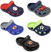 Garden Clogs Shoes For Boy Kids & Toddler Slip-On Casual Two-tone Slipper Sandal