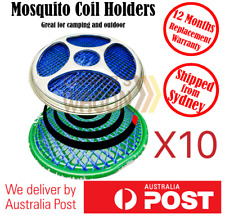Mosquito Mozzie Coil Holders Burners Repel Home Garden Camping Outdoor 10 Holder