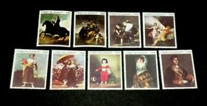 PARAGUAY#1200-1208, 1969, ART, FAMOUS PAINTINGS, SET/9 SINGLES, MNH, NICE!  LQQK