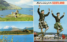 Postcard Scotland  Best wishes from Scotland    multi views unposted  Bamforth