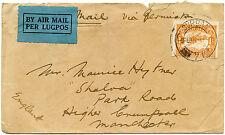 Afrique du sud 1932 airmail 1/- durban à manchester gb