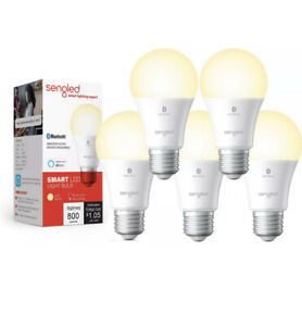 5 Pack Sengled Smart Bluetooth Mesh Dimmable LED Light Bulb Works with Alexa