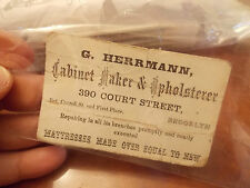 RARE Civil War Era Brooklyn New York Business Card G. Herrmann Cabinet Maker