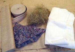Naturpolstermaterial für 2 Stuhlsitze zum selber polstern - siehe Liste