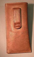 Eyeglass / Glasses Case w/ CLIP - Premium top grain Calf Antique leather - NEW