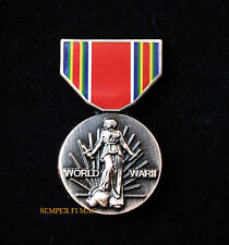 WORLD WAR 2 VICTORY MEDAL LAPEL HAT PIN US ARMY MARINES NAVY AIR FORCE WW2 GIFT