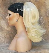 CLASSIC Blonde Ponytail Straight  Light Blond  Drawstring Extension Hair Piece