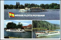 Schiffsfoto Postkarte DDR Schiffe der Weissen Flotte Potsdam ua. Nedlitz uvm.
