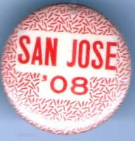 Vintage 1908 pin SAN JOSE pinback button