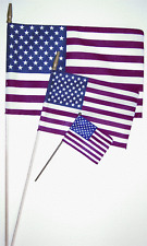 """12"""" x 18"""" Us American Stick Flag with Spearheads(12)"""