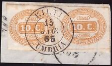 REGNO 1865 - 10 c. n. 1a SEGNATASSE COPPIA RIETI € 650