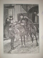 A Recognition R Caton Woodville 1892 old print