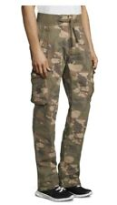 JET LAG Relaxed 35 / Reg 36 x 32 OLIVE GREEN BROWN Camouflage Banded Cargo Pants