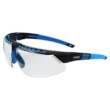 Uvex Avatar Safety Glasses with Clear Anti-fog Lens, Blue Frame
