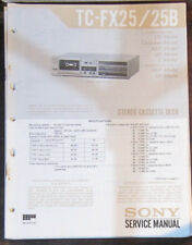 Sony TC-FX25/B cassette deck service repair workshop manual (original)