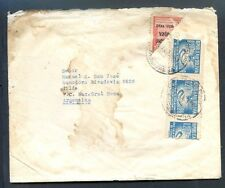 BOLIVIA TO ARGENTINA Cover Bisected Franking 1952