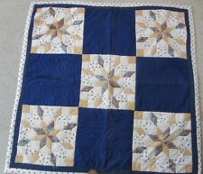 HAND PIECED / HAND QUILTED- made with Liberty Fabrics lap quilt 42 ins sq.