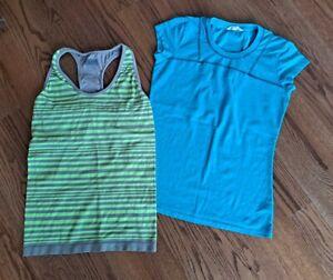 Athleta Running Tennis Athletic Tank Tops Shirts Women's Size S/M (Lot of 2)