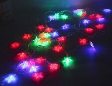 Espero 40 LED 16.4ft Star String Lights Battery Operated waterproof mixde colour