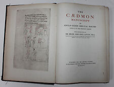 THE CAEDMON MANUSCRIPT OF ANGLO-SAXON BIBLICAL POETRY JUNIUS XI, OXFORD, 1927