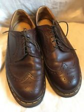 Dr Martens Long Wing Oxfords England Mens 10 Leather Brown MIE 3989/59 AW 004