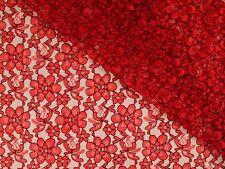 Spitze mit Blüten, rot, 145cm