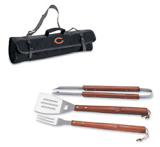 BBQ Chicago Bears GRILLING SET w/ Carrying Case NFL Cooking Tool Tote Bag 4pc