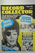 Record Collector Magazine. Issue no. 48, August, 1983. David Bowie. Genesis.