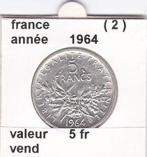 BF 1 )pieces de 5 franc  france  1964   ( 2 )