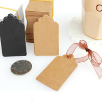 100Pcs 7*4CM Kraft Paper Blank Hang Tags Luggage Label Gift Cards Wedding Favor