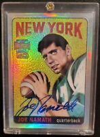2001 Topps Archives Reserve Joe Namath Jets On Card HOF Autograph