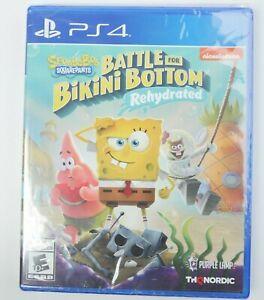 *SEALED* SpongeBob SquarePants [ Battle for Bikini Bottom Rehydrated ] (PS4) NEW