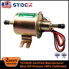 PAL Universal Gas Diesel Inline Electric Fuel Pump 12V 4-7psi Shutoff Pressure S